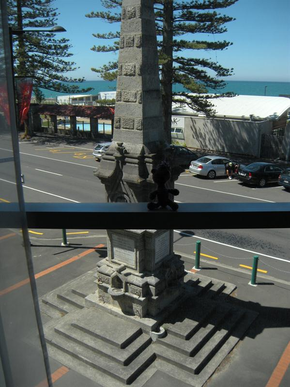 The view from our hotel room at Napier