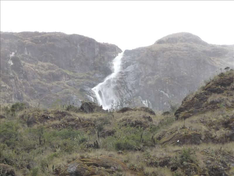 Mountain river which feeds many of the Inca ruins for irrigation