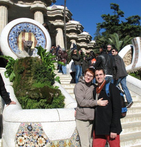 Nelli and Ruedi at Parc Guell ....