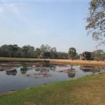 jeden z dwóch zbiornikówwodnych przed Angkor Wat, który kiedyś służył do umycia się przed wejściem do świątyni