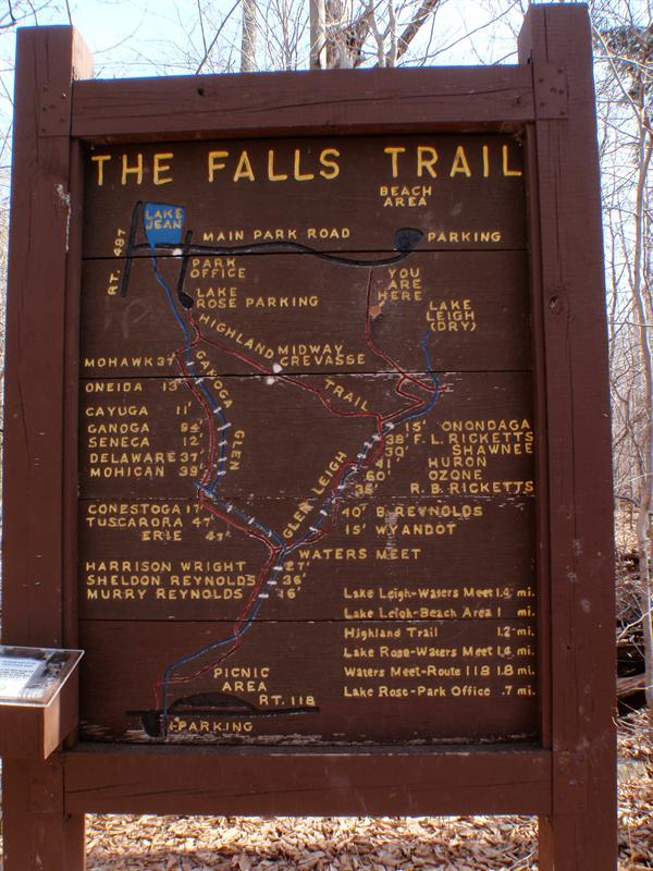You will see this sign at the the top of Falls Trail