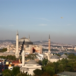 View over Aya Sofya from our hotel