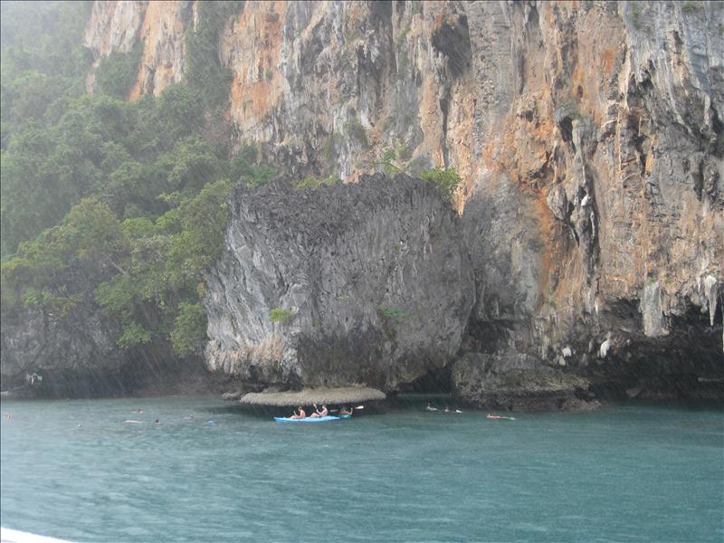 Kayaking in the warm monsoon rain