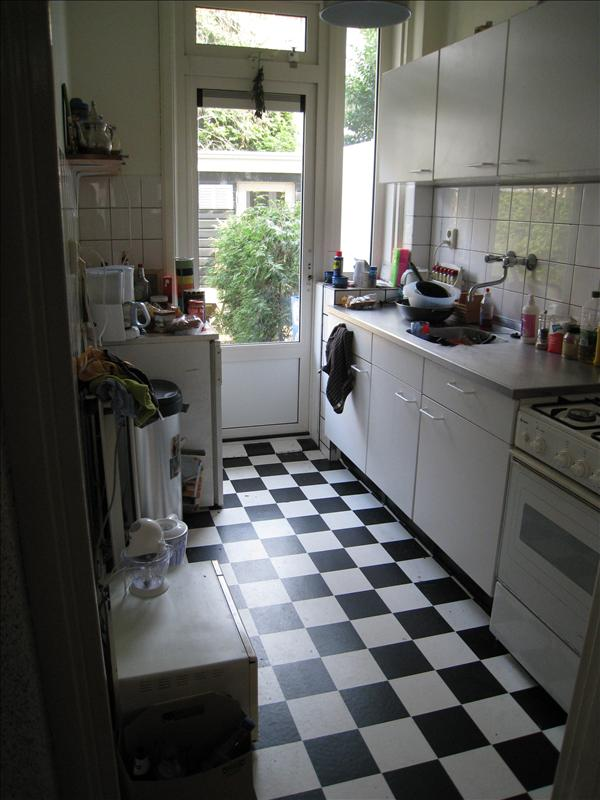Kitchen where I karate chopped my finger cutting cheese...idiot