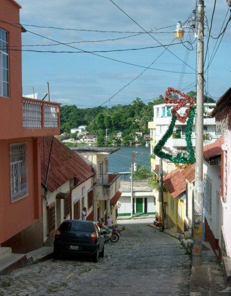 STREET SCENE, FLORES, GUATEMALA
