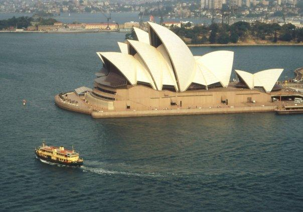 VIEW OF OPERA HOUSE FROM SYDNEY HARBOUR BRIDGE