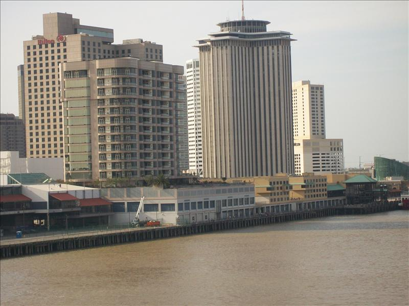 Downtown New Orleans on the Mississippi river