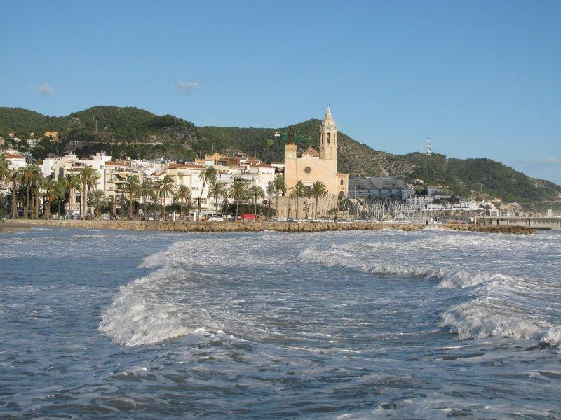 Still sunny in November in Sitges.