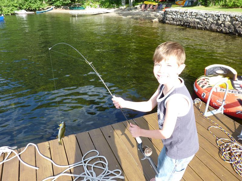 Sam's first fish !