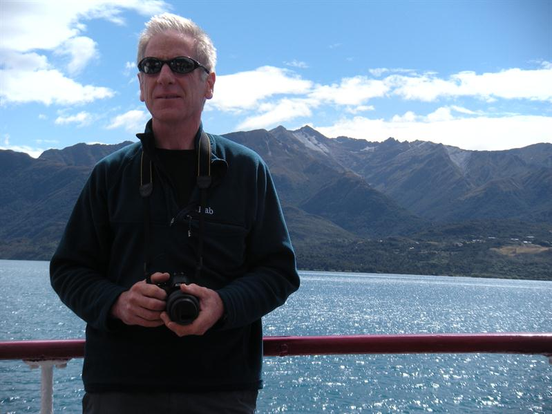 Pete on the Earnslaw on Lake Wakatipu
