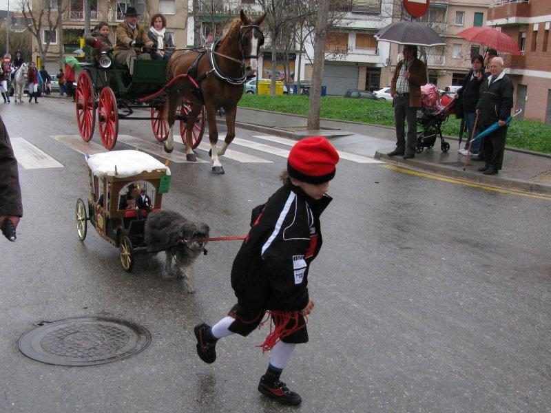 ... parade 3 times around the town.
