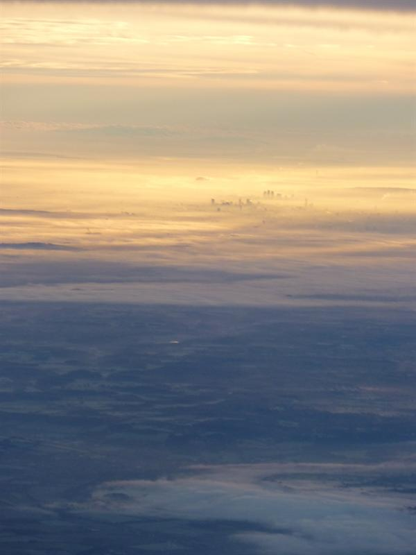 If you look closely you can still make out the city in the distance :)