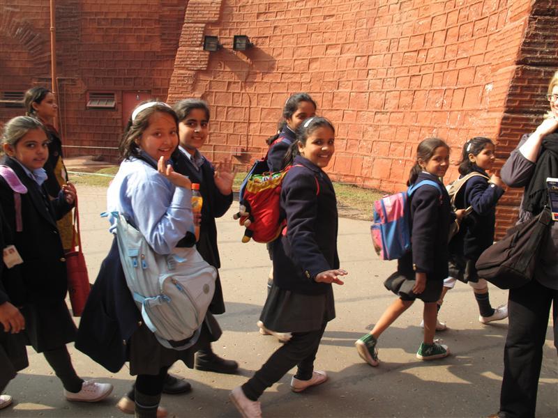 School kids visit