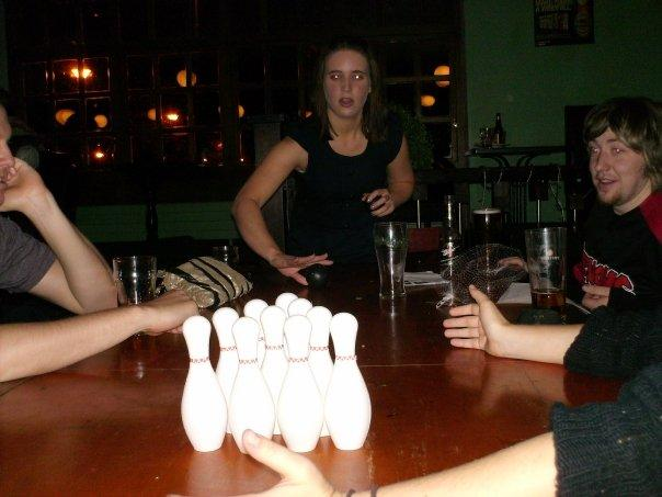 Came in 2nd...got a mini bowling kit that we preceded to test out at the pub