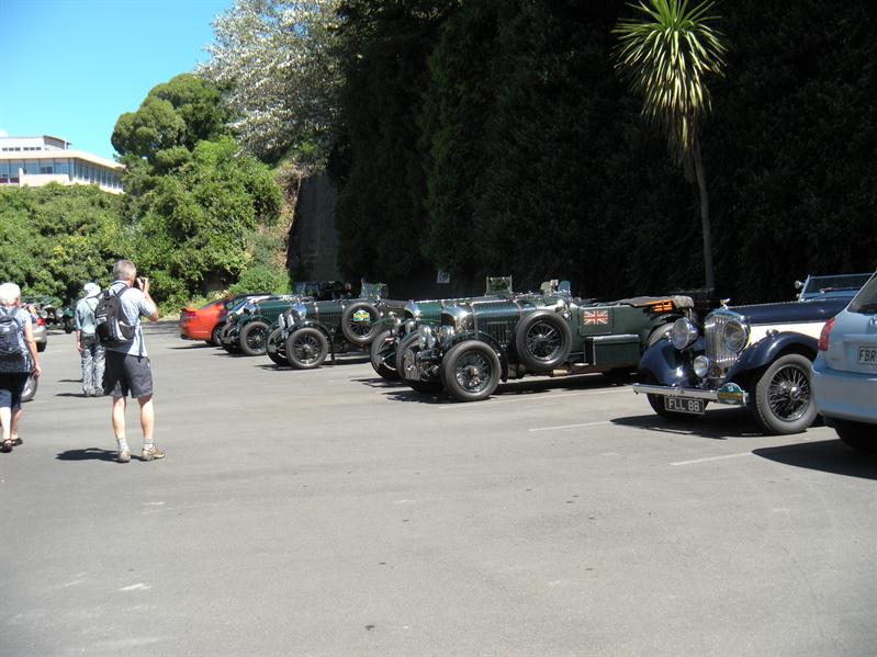 Bentley cars in the hotel car park at Napier