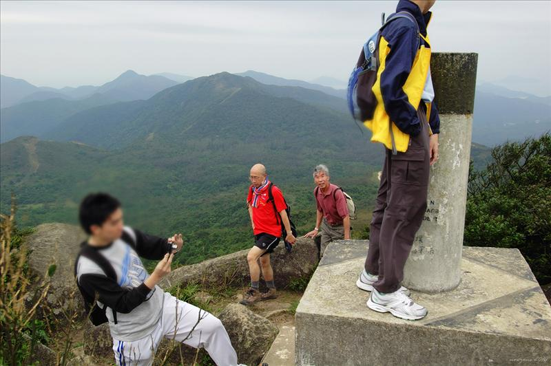 西貢最高峰高四百八十一米的石屋山 481m Shek Uk Shan, the highest spur in Sai Kung