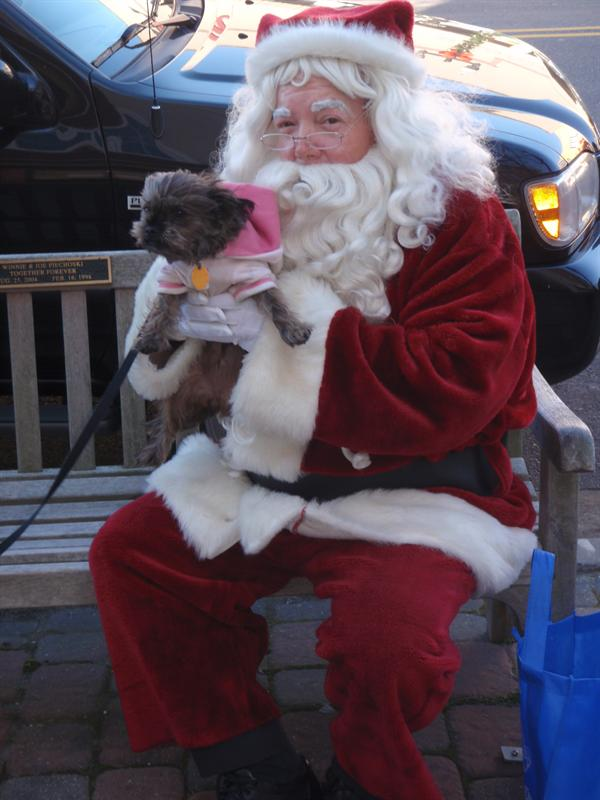 Lucy and Santa