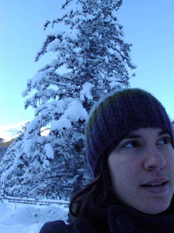 ganz viel Schnee und ganz schoen kalt... dafuer gabs im Chateau Lake Louise einen Apfelstrudel und ein Kafi!