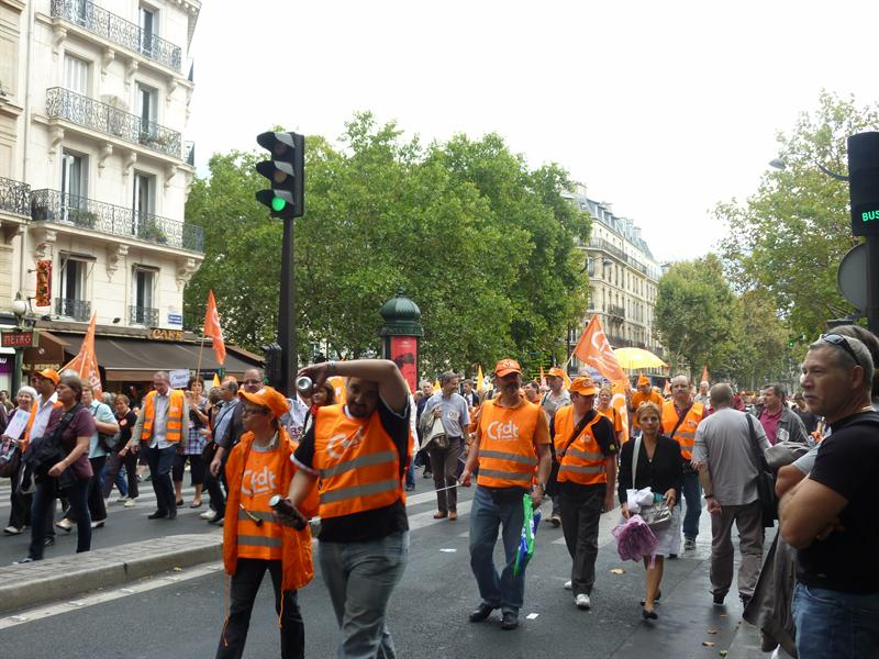 French workers strike, throng streets in new showdown with Sarkozy over raising retirement age 9/23