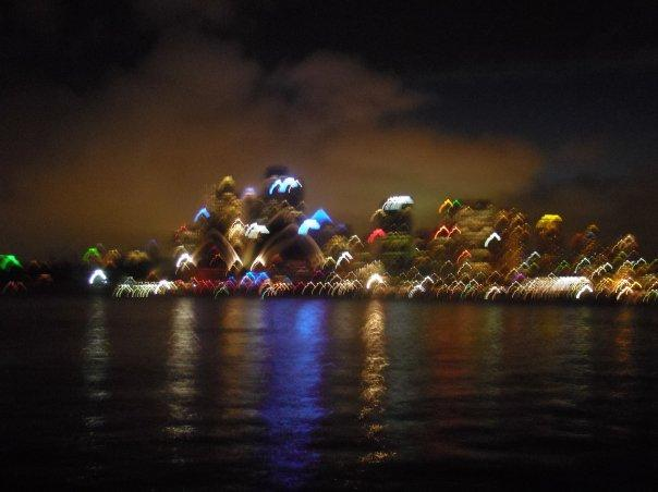 The start of the NYE fireworks - and I'm blaming the camera SOLELY for the blurriness! ;)