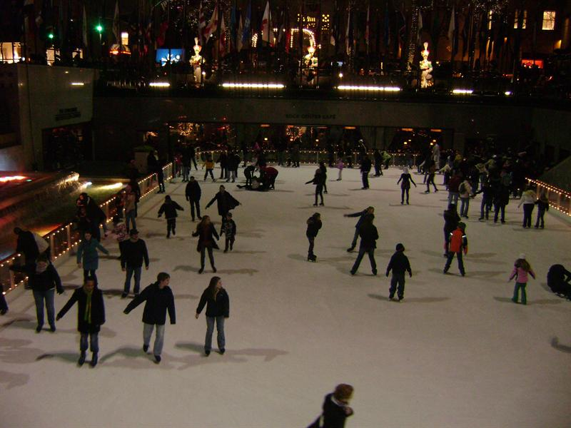 Rockafeller Center skating rink