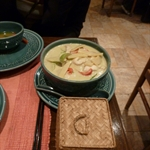 Green curry and sticky rice! yay! 9/18 (name:Lao Siam, Location:Paris)