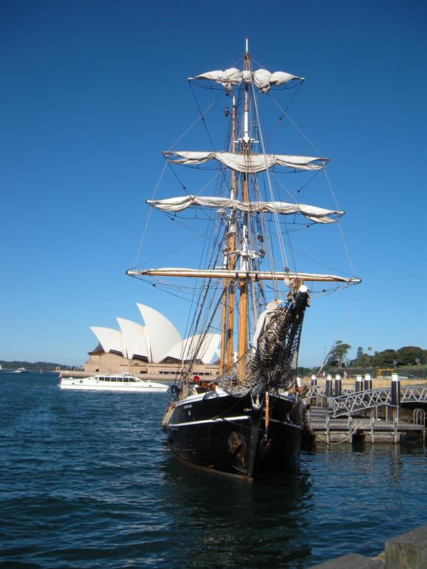 The tall ship we sailed in