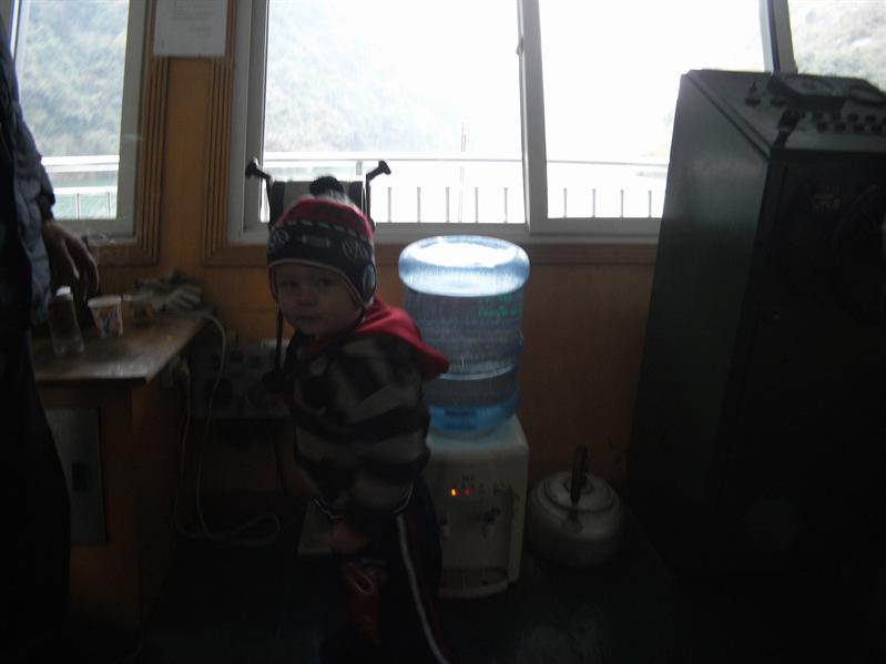 henrik taking over the boat