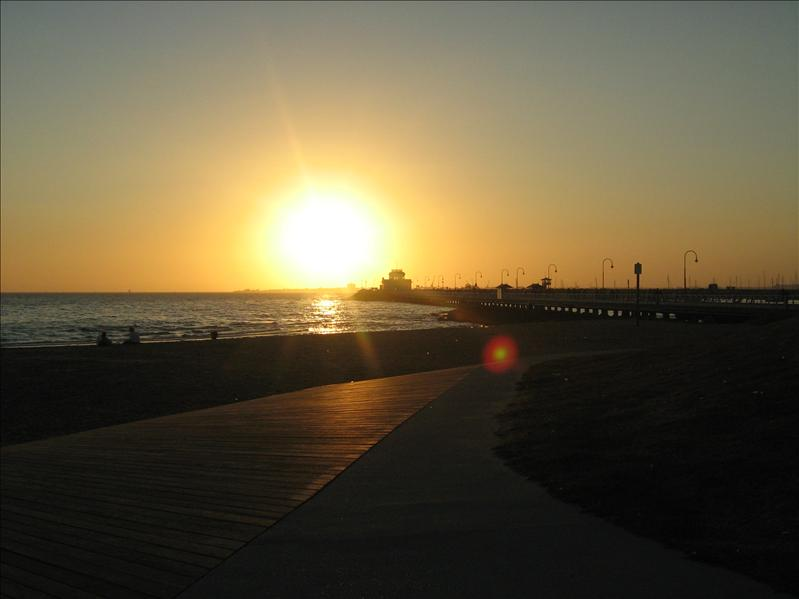 Pretty Sunset on St Kilda Beach