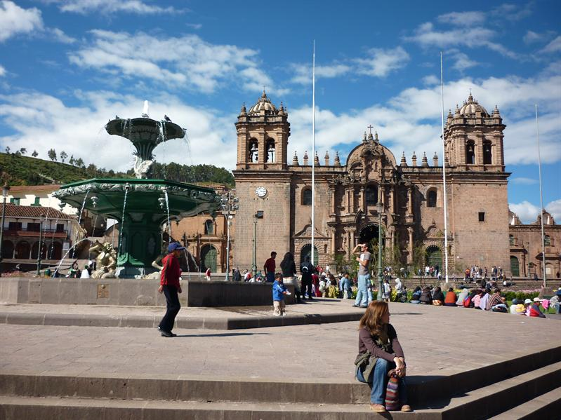 Cusco's main square...