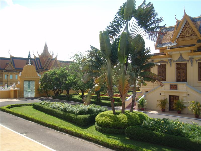 Inside the grounds of the Royal Palace
