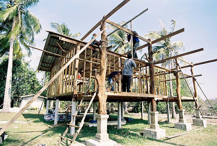 บ้านที่กำลังก่อสร้าง