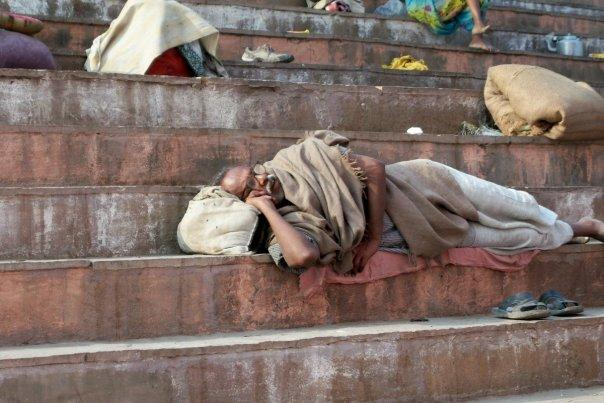 GOING FOR A NAP, VARANASI GHATS