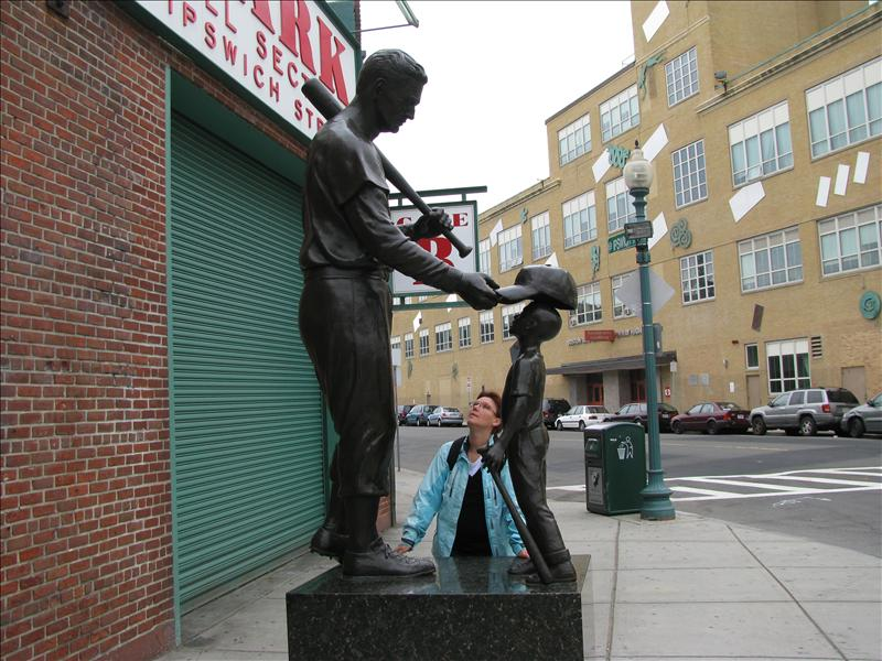 Ted Williams voor Fenway Park