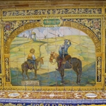 ..with many tiled pictures including this one of Don Quixote tilting at his windmill.