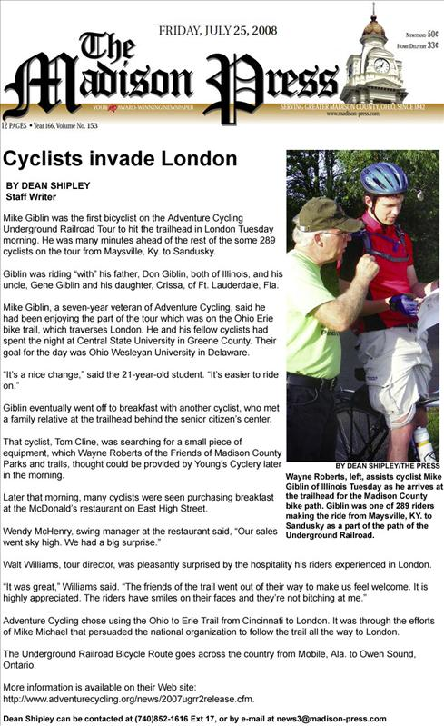 """Mike's impressive interview..how did he get to be a """"few minutes ahead of the other riders""""?"""