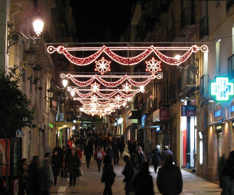 Christmas street lights at Tarragona.