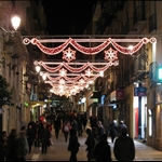 Christmas street lights at Tarragona.