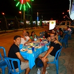 My farewell dinner and birthday dinner in Thong Sala, Koh Phangan. I had a 10pm ferry, which I decided to miss and stay another day!