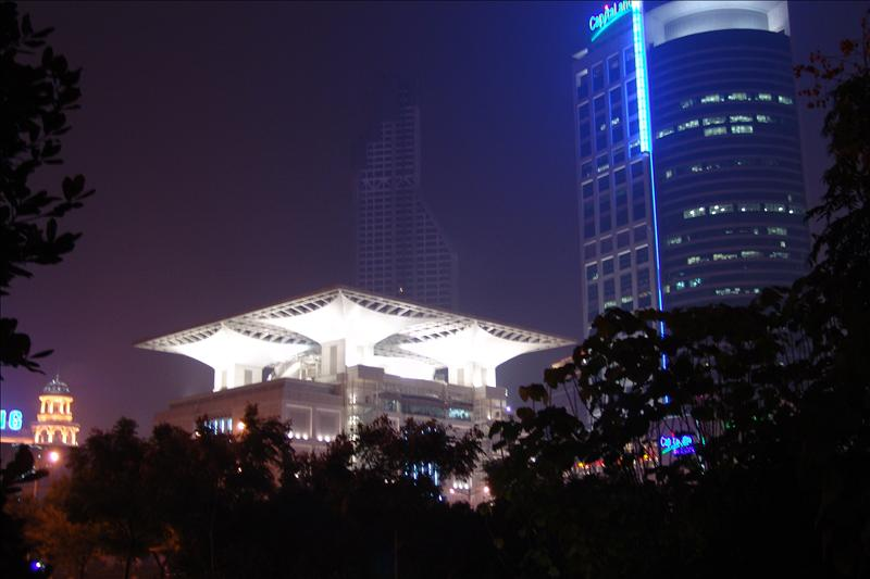 Peoples Square Night Scene人民广场夜景