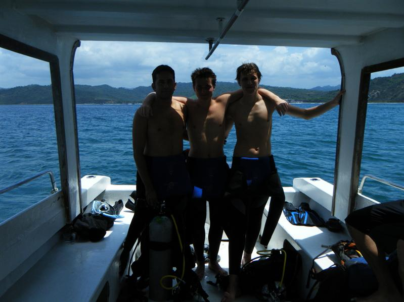 me john and daniel, our diving instructor