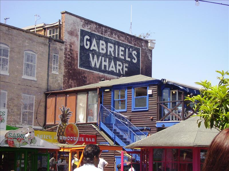 Gabriel's Wharf best crepe shop there