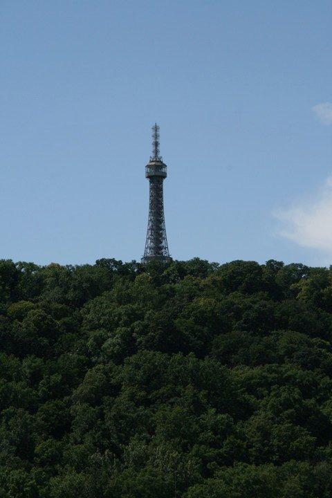 Petrin Hill Observation Tower from afar
