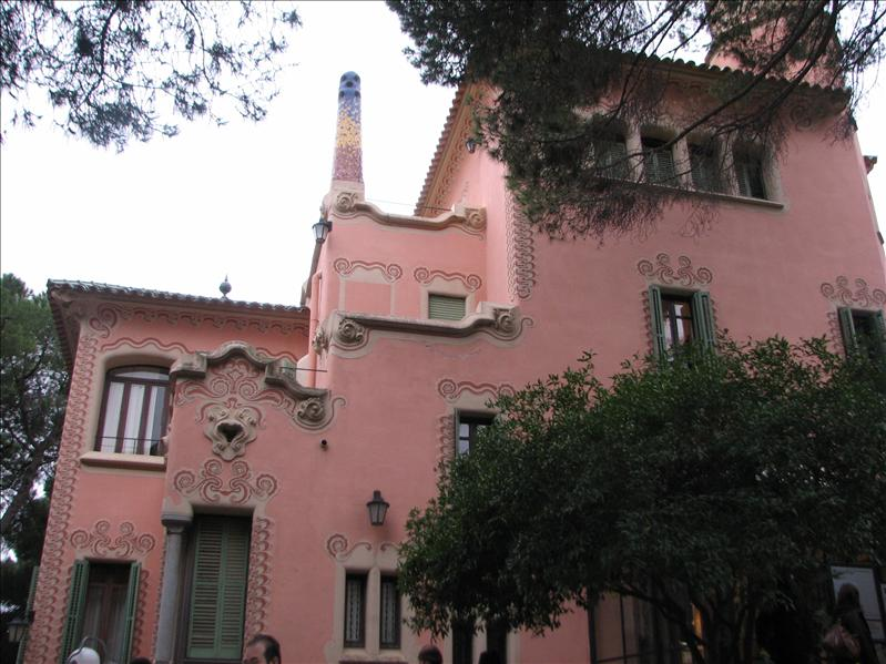 Gaudi's pink house