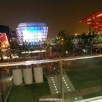 晚上的台灣館與中國館