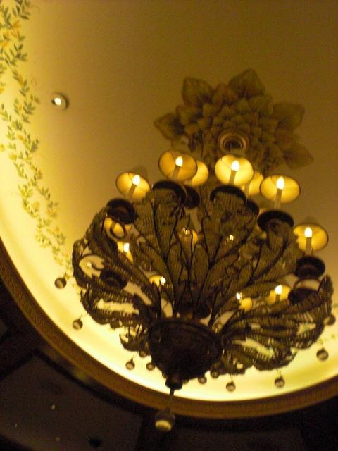 Chandelier in lobby bar @ Bellagio