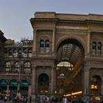 Duomo Square. The panorama feature on the Sony NEX-5 takes a little to get use to. This one is tilted.