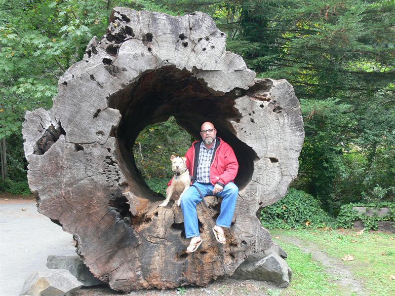 KL & Wingnut in the stump