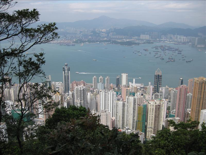 """The Peak"" offers spectacular views over central Hong Kong, Victoria Harbour, and the surrounding islands."