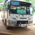 Our bus from the Laos border to the north region of Luang Namtha
